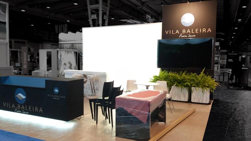 Stand Vila Baleira - Montagem na FIL