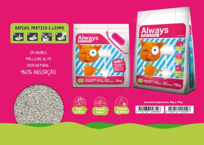 Brochura Always Pet Care: exemplo de página