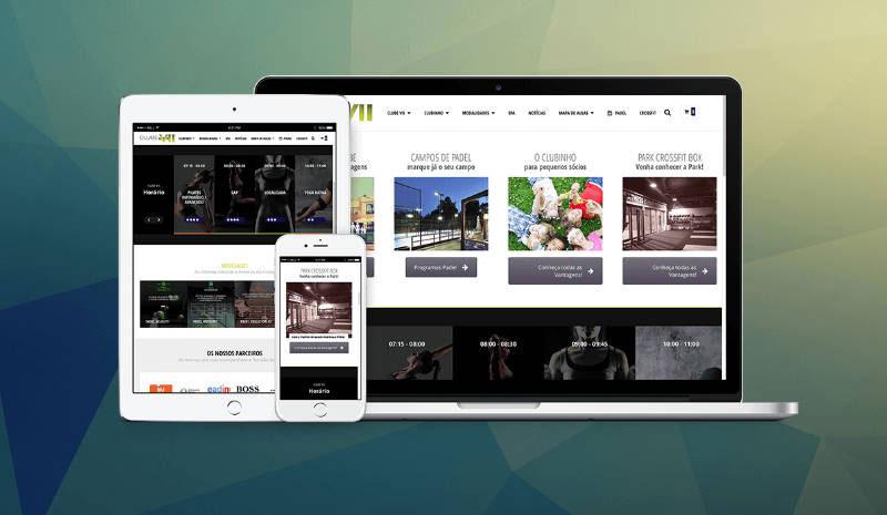 Website Clube VII, responsive website