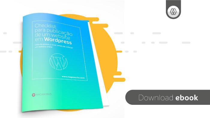 ebook: Checklist para publicação de um website em WordPress