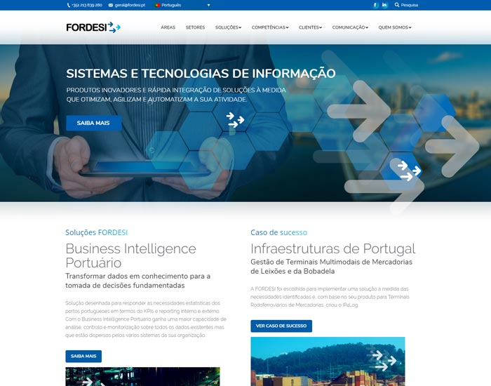 Website Wordpress Fordesi, Homepage
