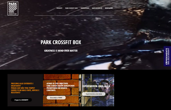 Homepage, website Crossfit Clube VII
