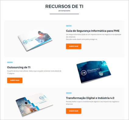 Landing page: Homepage Compuworks