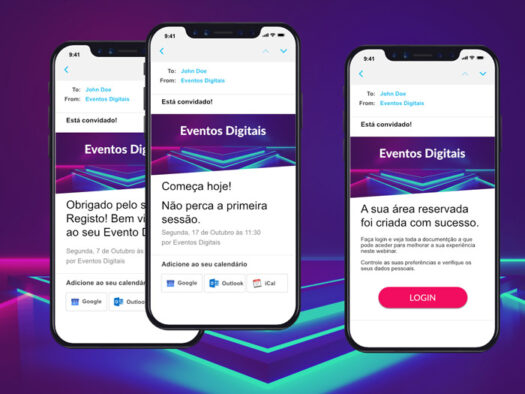 Envio de emails automatizados - Eventos digitais