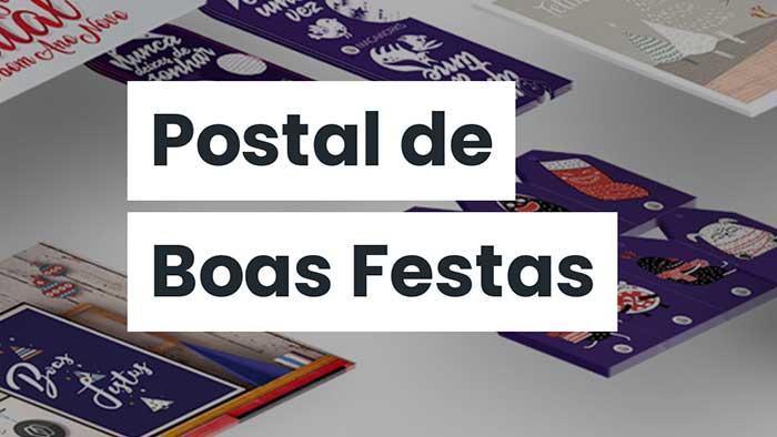 Promoção de postal de Natal criativo
