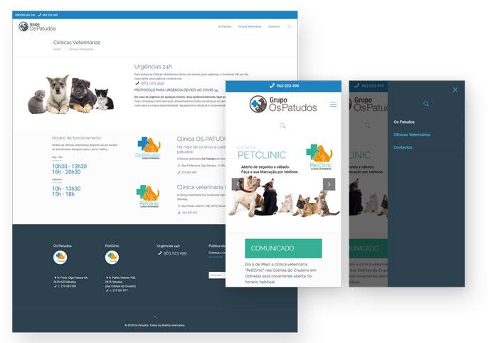 Website clínica veterinária