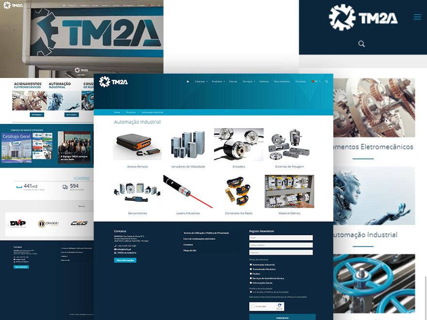 Website catálogo online - TM2A