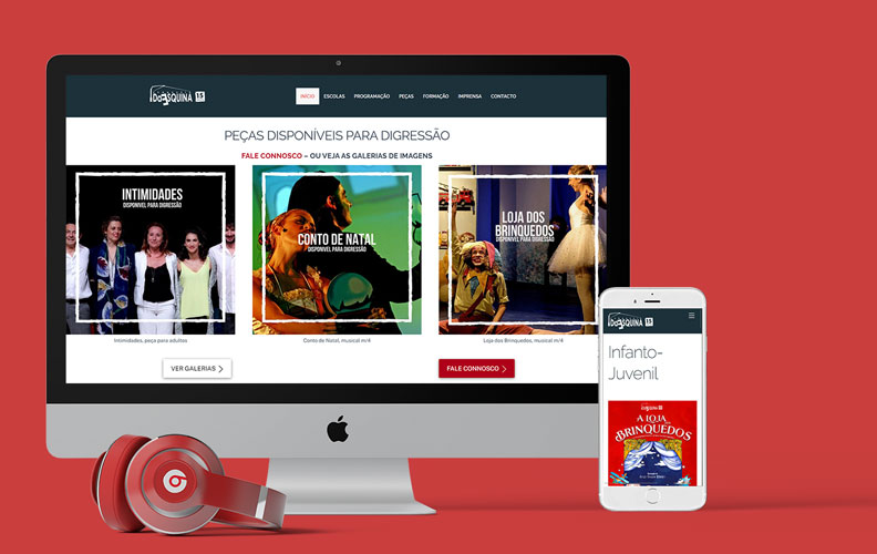 Website para Companhia de teatro