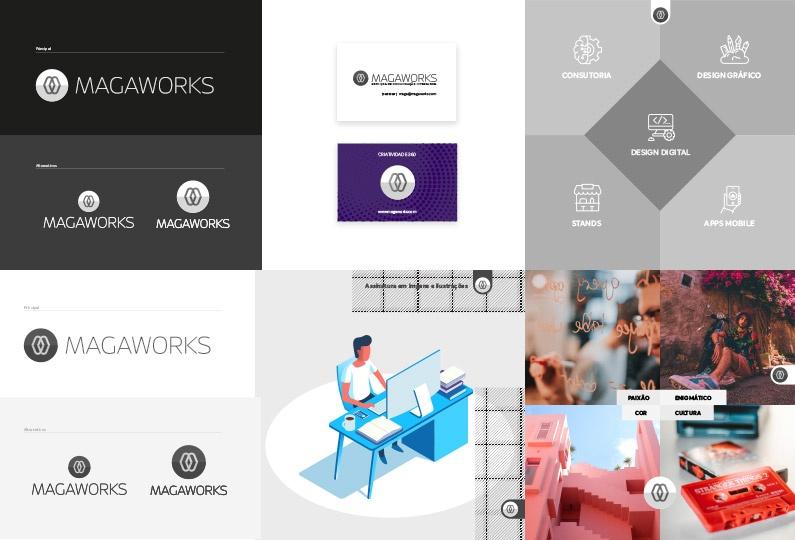 Criação de Logotipo & Brand Book Magaworks