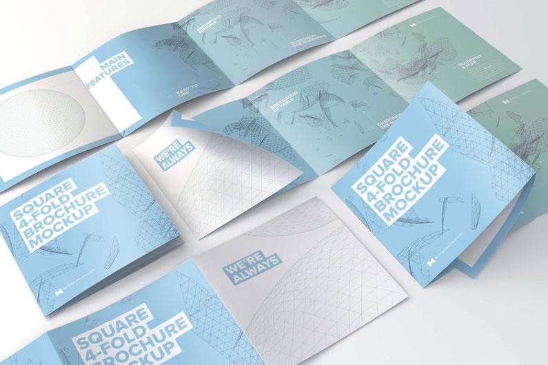 Design de folhetos e brochuras