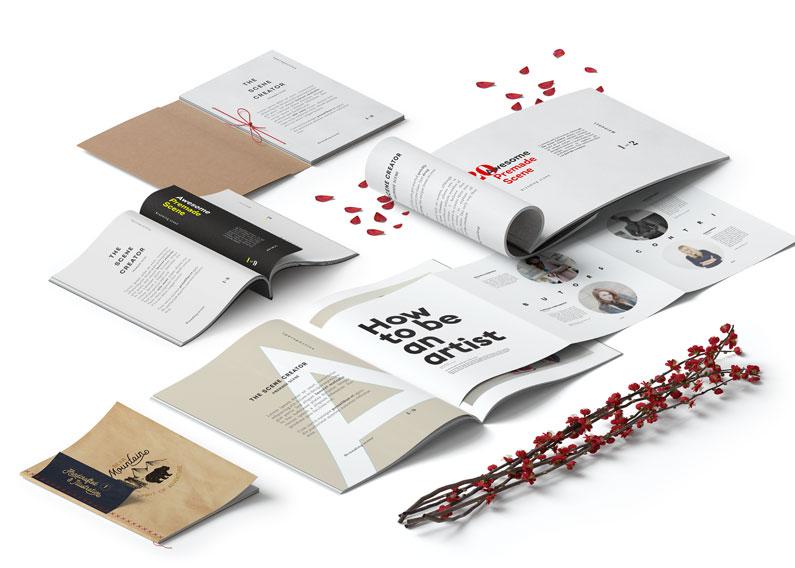 Paginação de catálogos e revistas