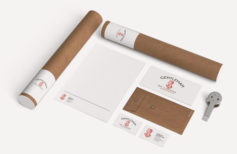 Design de cartão de visita e estacinário para impressão