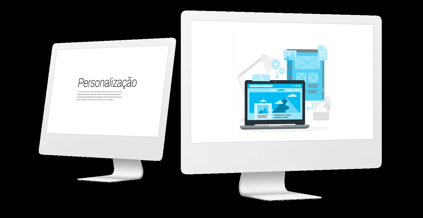 Websites à medida - Personalização completa