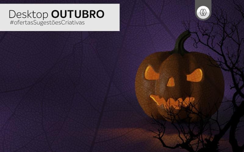 Desktop de Outubro 2021 - de Magaworks para o Halloween